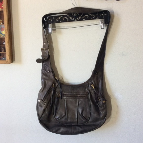 French Connection Handbags - French Connection BIG Leather Boho Bag